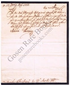 Maria Theresa Signed Letter 1766